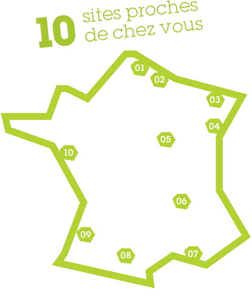 10 sites de productions - Carte de France