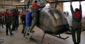 Hélicoptère Galvaniser